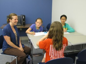 Elizabeth Hobson is interviewed by girls about her life and career.