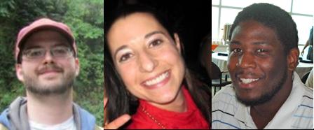 (From left) Nels Johnson, Megan Rua, Quentin Johnson