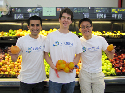 (From L to R) College students Ashish Gauli, Nathan Wikle and Ryan Yan have developed a website tool to help in the fight against invasive species.
